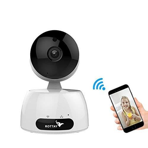 Telecamera di Sorveglianza IP camera wifi Rottay 720P HD wireless,Obiettivi Ruotabile, Audio Bidirezionale, Modalit¨¤ Notturna a Infrarossi, Controllo Remoto, Compatibile con iOS e Android e PC