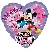 Amscan International Mickey und Minnie Love Jumbo Sing A Tune Folienballon