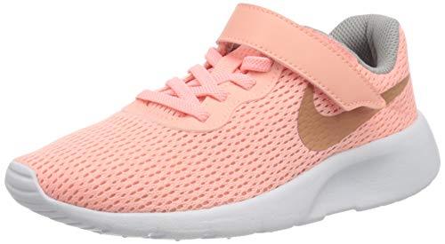 Nike Mädchen Tanjun (PSV) Laufschuhe, (Pink Tint/MTLC Rose Gold/Atmosphere Grey 607), 35 EU