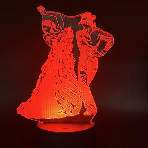 tin Dance Lichter 7 Farben Led Tischlampe Usb Touch Switch Bedroon Deco Schreibtischlampe Nachtlicht Kinder Weihnachtsgeschenke ()