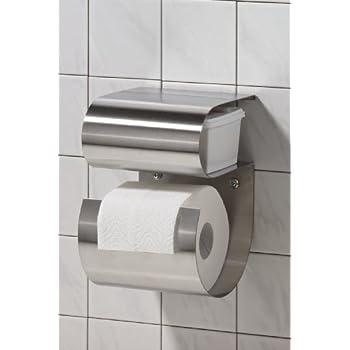 m m toilettenpapierhalter aus edelstahl mit fach f r feuchte t cher baumarkt. Black Bedroom Furniture Sets. Home Design Ideas