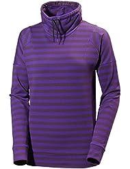 Helly Hansen W Bliss Sweater - Camiseta para mujer, color morado, talla M