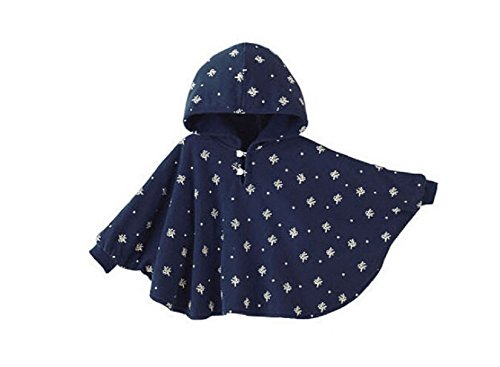 ZUMUii Butterme Netter Baby Winter warme Beiderseitige Wear Kapuze Cape Umhang Poncho Mantel für Kinder Kleinkind Baby Mädchen Jungen 1-3 ()