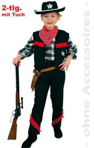 Gewehr-gürtel Western (Fries 2012 Cowboy Kostüm mit Tuch Karneval Fasching Western Jungen Verkleiden: Größe: 152)