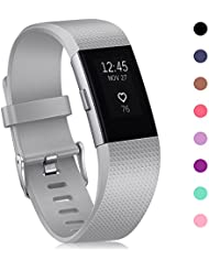 Fitbit Charge 2 Bänder, Mornex klassische Armbänder, sportliches Fashion Design mit verstellbarer Metallschließe für Fitbit Charge 2 Smartwatch, 10 Stück