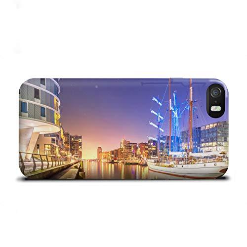 artboxONE Apple iPhone SE Premium-Case Handyhülle Sandtorhafen II von Jan Hartmann