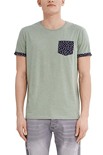 edc by ESPRIT Herren T-Shirt 037cc2k005 Grün (Dusty Green 335)