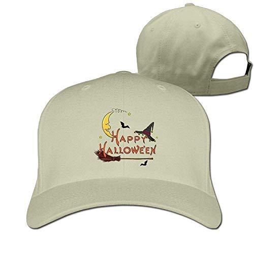 Classic Cotton Hat Adjustable Plain Cap, Halloween Plain Baseball Cap Adjustable Size Curved Visor Hat 442