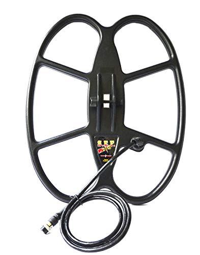 DETECH 15×12Ω S.E.F. Butterfly-Spule für Tesoro Cortes Metalldetektoren mit Spiralabdeckung