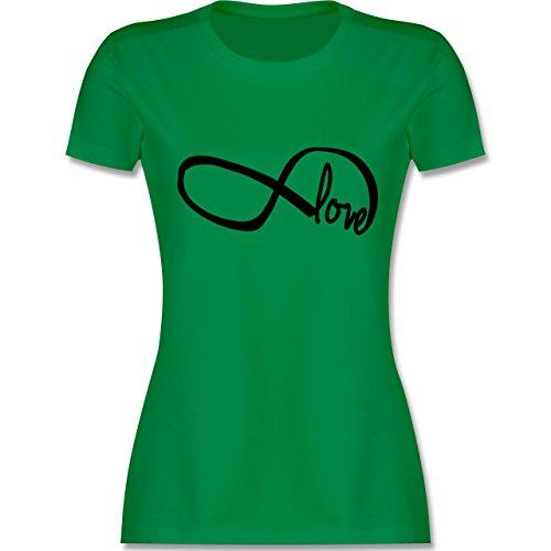 Statement Shirts - Forever Love - tailliertes Premium T-Shirt mit Rundhalsausschnitt für Damen Grün