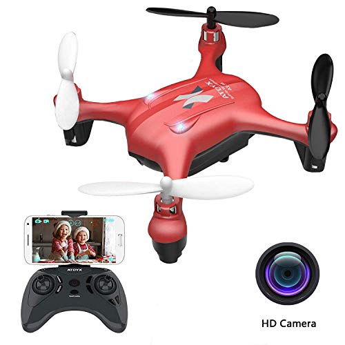ATOYX AT-96 FPV Mini Drone con Telecamera, 2.4GHz 4CH a 6 Assi Gyro RC Quadcopter Drone con HD Camera modalità...
