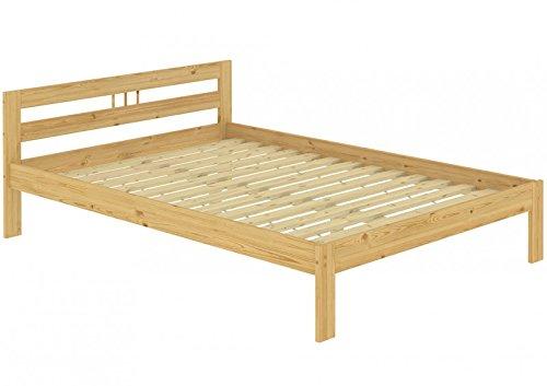 Letto/futon matrimoniale classico in pino eco 140x200 laccato con assi di legno 60.64-14