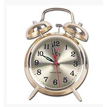 Luxuryclock Despertador Súper Fuerte Reloj De Herradura Mecánico Antiguo Retro-Nostalgia Completamente Metálico Mandril De