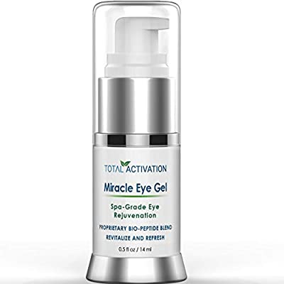 Anti Wrinkle Miracle Eye Gel, Anti Aging Collagen Serum & Toner, Age Spot Remover, Day and Night Treatment for Dark Circles Under Eyes, Replaces Retinol Face & Eye Skin Cream, For Men & Women, 0.5 oz