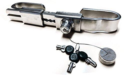 Preisvergleich Produktbild MAMMUT Stoßzahn Diebstahlsicherung Bügelschloss für Container aus Edelstahl Sattelauflieger, Seecontainer, mechanische Türstangen, einbruchhemmender Containerverschluss