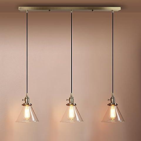 Pathson Industrial Modern Vintage Loft Kitchen Bar 3 Lights Fittings