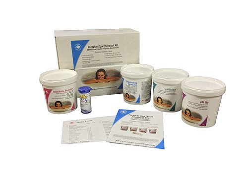 Tragbar Spa & aufblasbarer Whirlpool chemischen Kit-der ideale Starter Kit-Chlor Granulat, PH Up, PH Down, Alkalinität Booster, Teststreifen