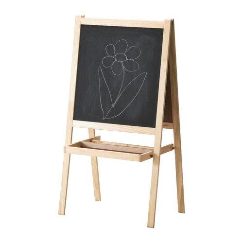 """IKEA Kindertafel \""""MALA\"""" Holz-Standtafel Staffelei mit Papierrollenhalter und Ablage 118x43cm - massive Kiefer"""