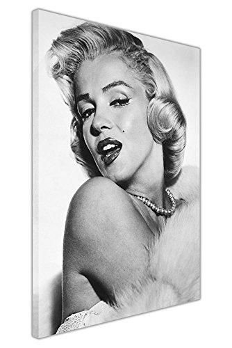 "Kunstdruck auf Leinwand Wandbild Bilder Schöne Marilyn Monroe Portrait Raum Dekoration Hollywood Legends, canvas holz, 09- A0 - 40\"" X 30\"" (101CM X 76CM)"