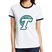 C-DIY Women's Two-toned Tee Unique Tulane T Logo University Of