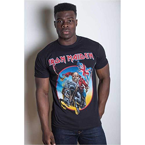 Iron Maiden Euro Tour Camiseta Manga Corta, Negro, XX-Large para...