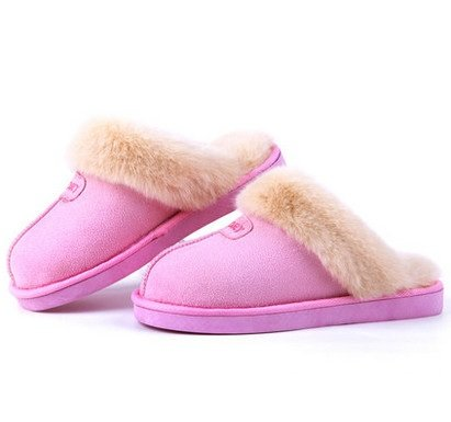 LEPAKSHI 2, 5 : Winter Shoes Men And Women Couples Plush Cotton Slippers Lovely Home Warm Slippers Anti-skidding Zapatos Size 35-44