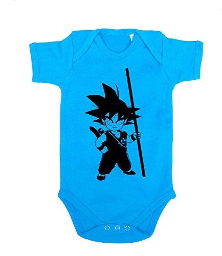 Son Goku Baby Strampler Body Goku Dragon Master Son Ball Vegeta Turtle Roshi Db, Farbe:Türkis;Größe:68