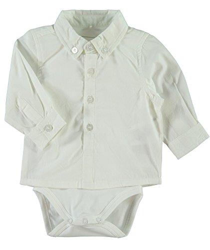 NAME IT weißes Baby Hemd mit Body Sander, Größe:62;Farbe:bright white