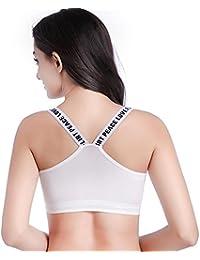 DALUCI Fashion New Women's Yoga Stretch Workout Seamless Padded Sports Bra