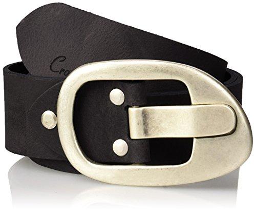 Cross Jeans Damen Gürtel 0381K Schwarz (Black 020) (Herstellergröße: 75)