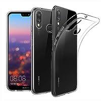 Huawei P20 Lite Kılıf Kapak Kapak Tam Şeffaf TPU Silikon
