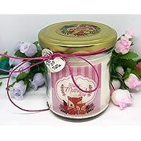 Festa della Mamma Ti voglio bene Mamma Regali per la Mamma Candela con disegno di cuccioli regalo per la Mamma