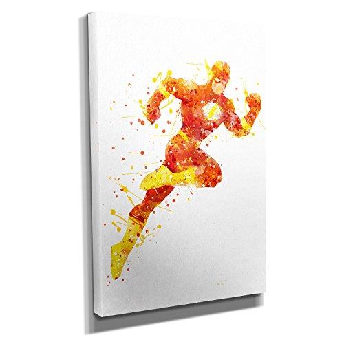 Nerdinger Flash - Kunstdruck auf Leinwand (50x75 cm) zum Verschönern Ihrer Wohnung. Verschiedene Formate auf Echtholzrahmen. Höchste Qualität. (Die Flash-wandtattoo)
