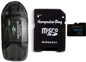 Komputerbay master carte microSDXC 64Go, classe 6 Samsung 16GB C10 with 10in1