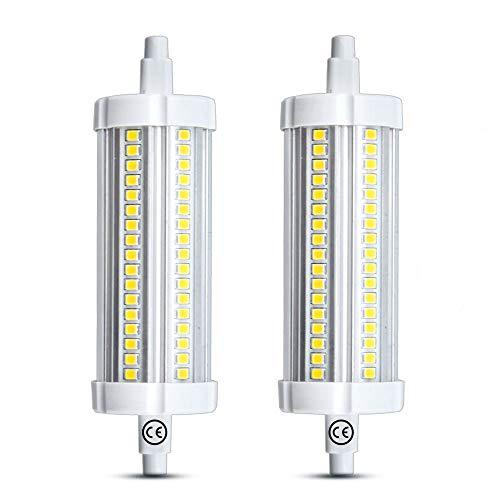 Luxvista R7S LED 15W 118mm Lampadina a Doppio Effetto Lineare Non Dimmerabile Illuminazione J118 Equivalenti a 150W 1900 Lumen Lampada Alogena Luce del Giorno 4500K 2-Pack