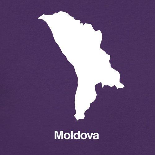 Moldova / Moldawien Silhouette - Herren T-Shirt - 13 Farben Lila