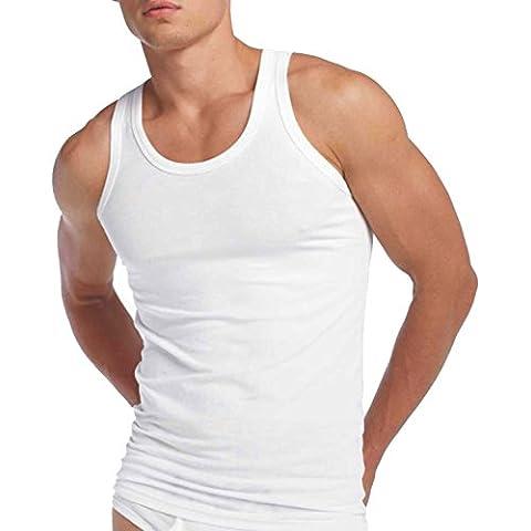 Ropa Interior Hombre - Gruesa 100% Algodón Camiseta Sin Mangas (Paquete de 3)