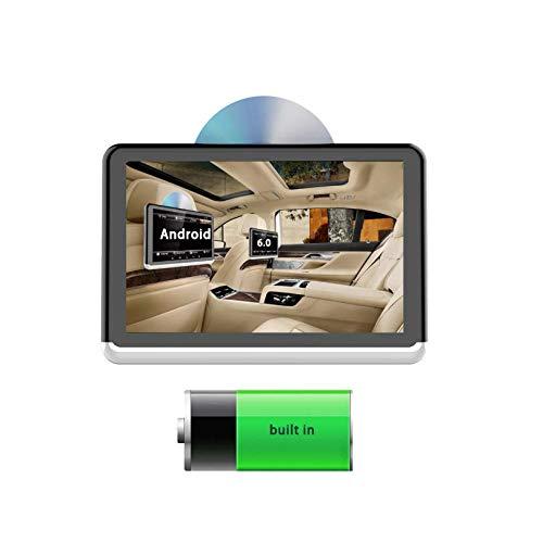 Hahaiyu Monitor da 10.1 Pollici per poggiatesta Auto 1080P, Serie Android 6.0, Batteria Integrata, Dvd, Bluetooth, Microfono, trasmettitore FM, USB, Uscita HDMI, TF, Smart Link, casa.
