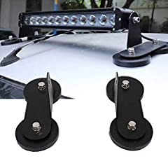 Idea Regalo - FADDR 1 Coppia di Supporti magnetici, Forte Supporto Magnetico a Ventosa per paraurti Lampada per Fuoristrada, Camion 4 WD, SUV, Wie Gezeigt, Taglia Unica