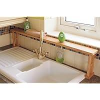 Kitchen Over Sink Shelf Rack Bathroom Storage Unit, Made of Natural Bamboo