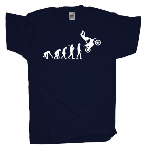Ma2ca - Evolution - Motocross Freeride T-Shirt Navy