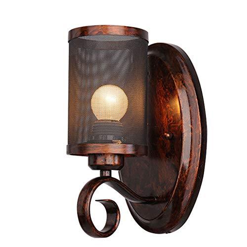 Metallic-kaffee (G-Licky Rustikal Wandlampen LOFT Bar Küchenlampe, Prime Halterung leuchtet Eisennetz Lampenschirm in E27 Base Fixture zum Gang Kaffee Bar Restaurant,Metallic)