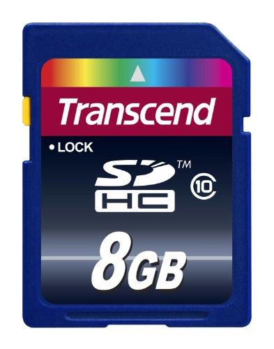 Transcend Extreme-Speed SDHC 8GB Class 10 Speicherkarte (bis 20MB/s Lesen) [Amazon Frustfreie Verpackung]
