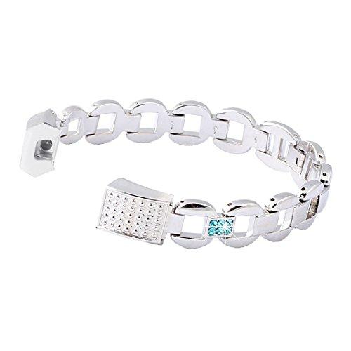 Bracelet Fitbit Alta HR, Rosa Schleife Montre Connectée Bracelet Femme Fitbit Alta HR Acier inoxydable Argent avec Métallique Sport Band Straps pour Fitbit Alta/HR Fitness Tracker