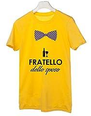 Idea Regalo - Tshirt Addio al Celibato Crew - Fratello dello Sposo- - Tutte Le Taglie by tshirteria