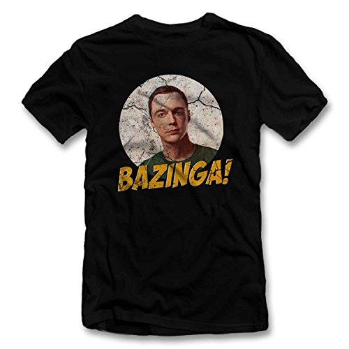 Bazinga 02 Vintage T-Shirt S-XXL 12 Colori / Colours Nero