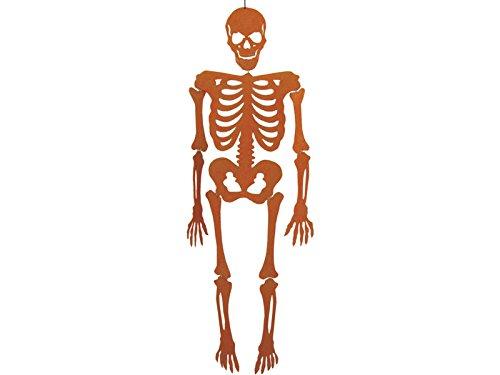 Skelett Orange Eva mit Glanz 155 cm.