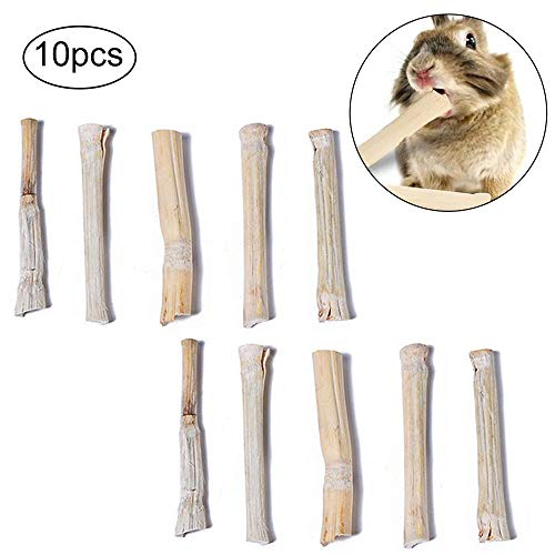 TEEPAO Kaustäbchen aus Bambus, natürliche hohe Faser, für Rennmäuse, Hamster, Eichhörnchen, Meerschweinchen, Chinchilla, Kaninchen, kleine Tiere -