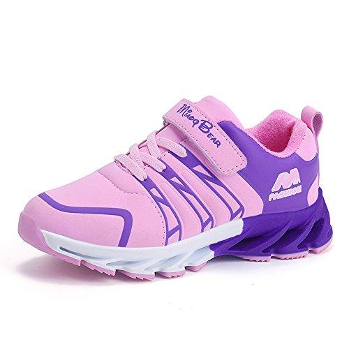 SITAILE Unisex- Kinder Sportschuhe Atmungsaktiv Sneaker Laufschuhe Shuhe Klettverschluss Bequeme Turnschuhe Wanderschuhe Shoes für Jungen Mädchen Outdoor,Rosa,29EU