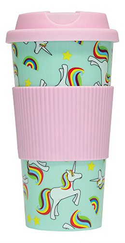 "Fizz Creations ""Unicorn Travel"" Mug, White, 16 oz"